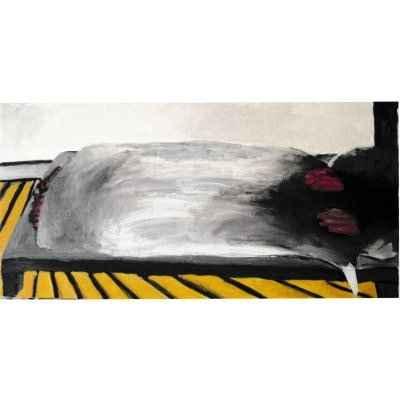 schlafen III 50x100cm akryl lwd