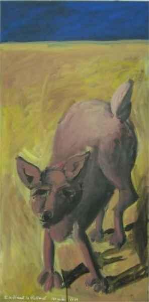 hund in holland 50x100cm akryllwd