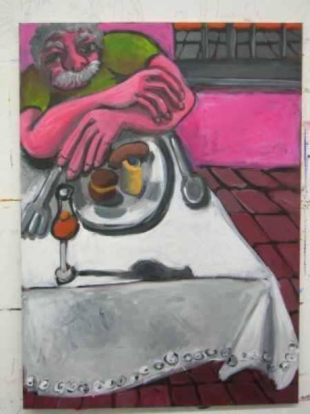 karfreitag rosa di bari 107x78 akrylleinwand
