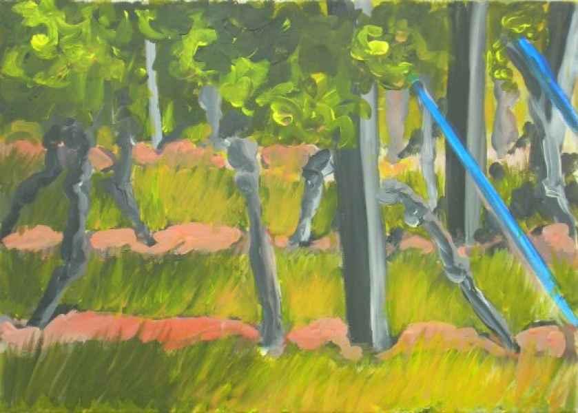 suedpfalz I blaue stuetzen 50x70cm