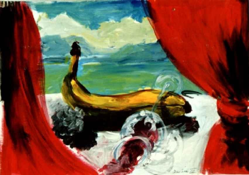 Der See VII Banane 70x50cm AkrylPapier