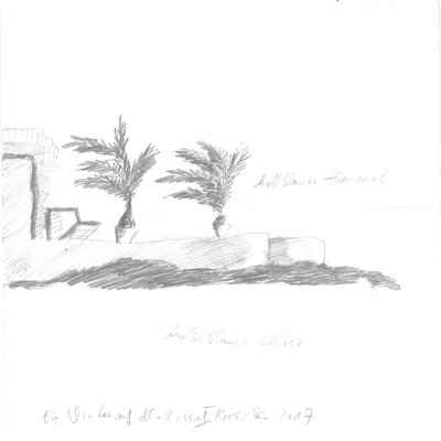 Ein Winter auf Mallorca II 15x15cm bleistiftzeichnungen