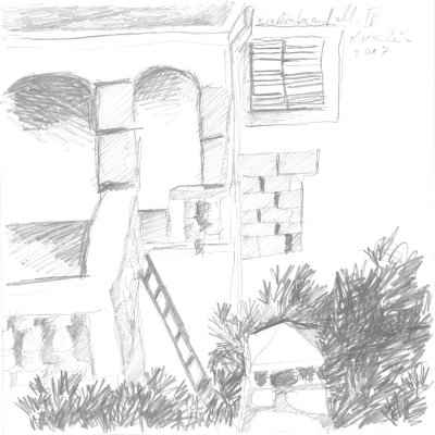 Ein Winter auf Mallorca IV 15x15cm bleistiftzeichnungen