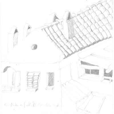 Ein Winter auf Mallorca VI 15x15cm bleistiftzeichnungen