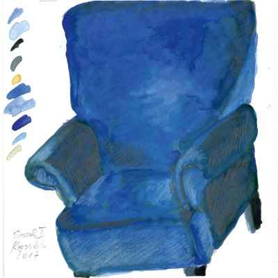 Sessel I 15x15cm aquarell