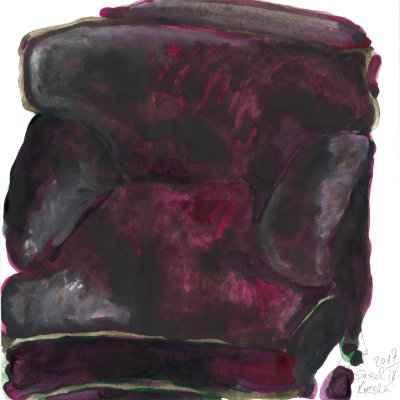 Sessel IV 15x15cm aquarell