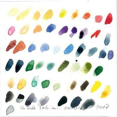 So viel Farben 15x15cm aquarell
