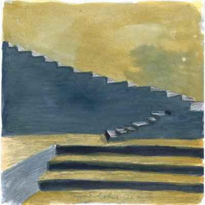 Treppe I 15x15cm aquarell