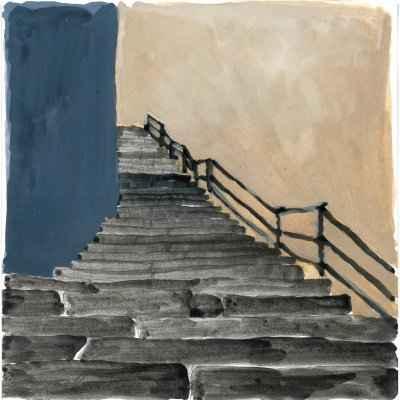 Treppe III 15x15cm aquarell