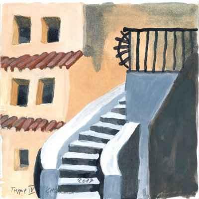 Treppe IV 15x15cm aquarell