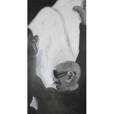 man reading paper II 50x100cm akryl lwd