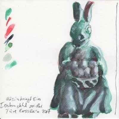 hsin bringt eier 30x15cm aquarell