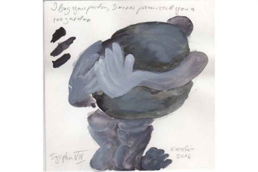 sysiphos VIII 15x15cm aquarell