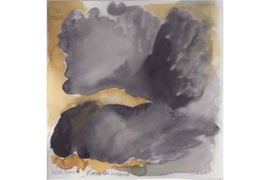 wolken 15x15cm aquarell