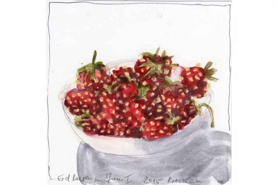 erdbeeren 15x15cm